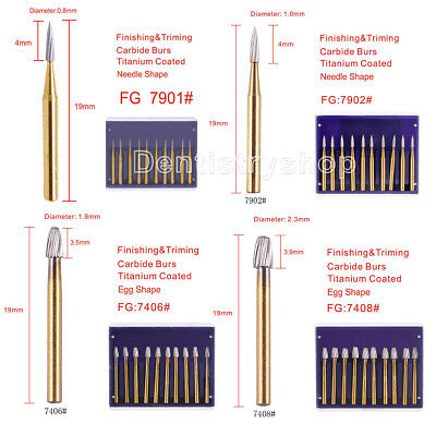 Dental Trimmingfinishing Gold Burs Tungsten Carbide Friction Grip F High Speed