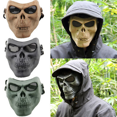 Halloween Face Mask Skull Skeleton Costume Hunting Tactical Military Protective](Plastic Skull Mask)