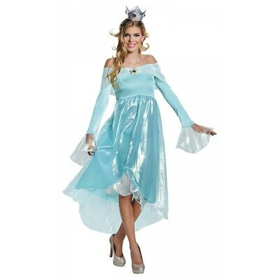 Rosalina Deluxe Costume Mario Brothers Halloween Fancy Dress
