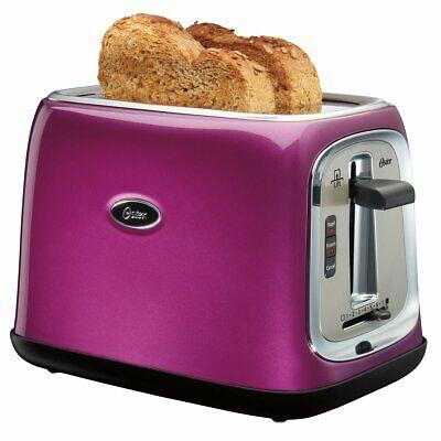 Oster 2-Slice Toaster, Purple, Major Slots, 7 Level - TSSTTRJB