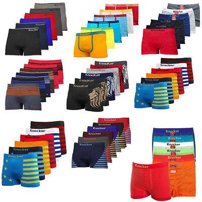Lot Of 6 or 12 Men Seamless Boxer Briefs Knocker Microfiber Underwear (12 Mens Boxer Briefs)