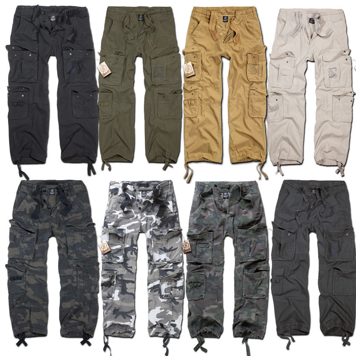 BRANDIT PURE VINTAGE TROUSER alle Farben S-7XL Cargo Airforce Hose Army Pants
