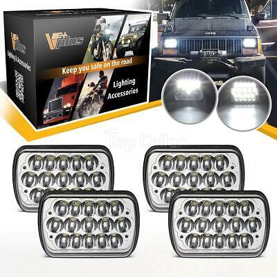 4PCS LED Headlight 7x6 7x5 H6054 H/L Crystal Head Bulbs Cree Kit for Chevy