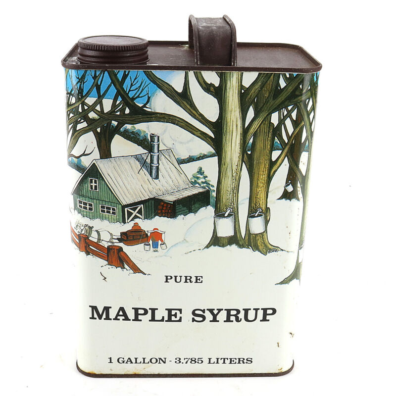 Vintage Pure Maple Syrup One Gallon Can Empty