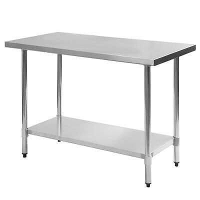 """24"""" x 48"""" Stainless Steel Work Prep Table Commercial Kitchen Restaurant New"""