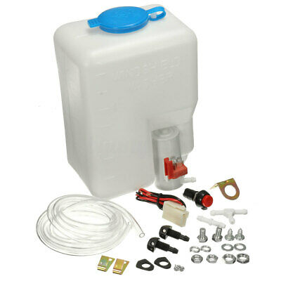12V Car Auto Universal Washer Tank Pump Bottle Set Kit Windshield Wiper Systems  Windshield Washer Bottle