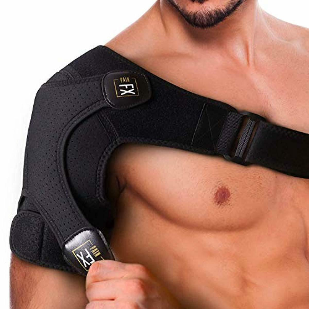 PainFX Shoulder Brace for Men with Rotator Cuff Support and