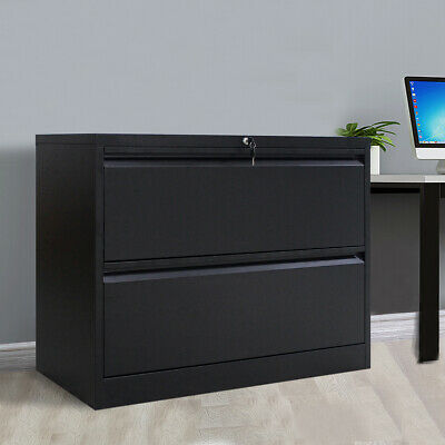 Metal Lateral File Cabinet Office Lateral File Storage Cabinet W2 Drawers Lock