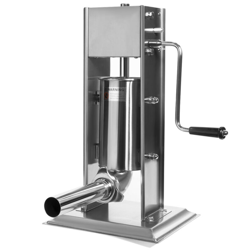 5-Pounds Sausage Vertical Stuffer Sausage Maker Hand Crank Stainless Steel