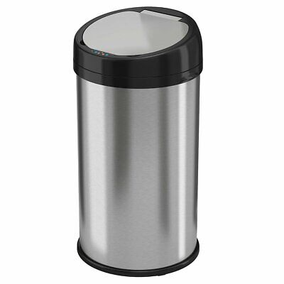 iTouchless IT13RS 13Gal Stainless Automatic Trash Can with Odor Control BOX DMG