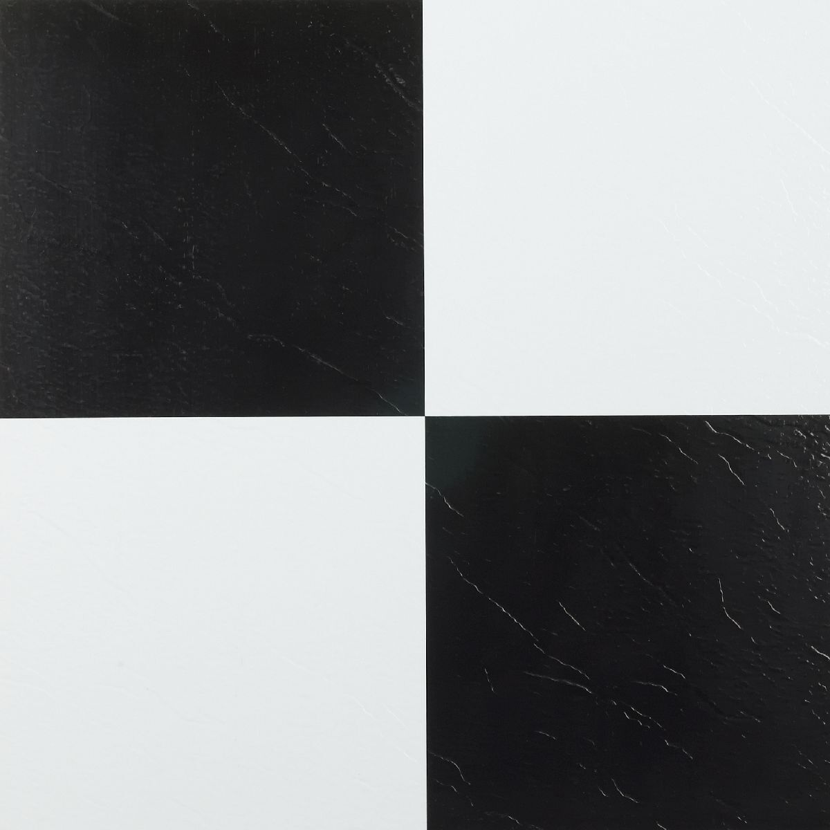 Peel And Stick Tile Self Adhesive Vinyl Flooring Black And W