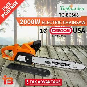 "Top Garden 2000W 16"" Oregon Electric Chainsaw e-Start Fairfield Fairfield Area Preview"