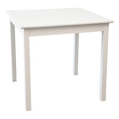 Tisch LUCCA 80 x 80 cm Birke massiv weiß Esstisch Gastro Esstisch Küchentisch