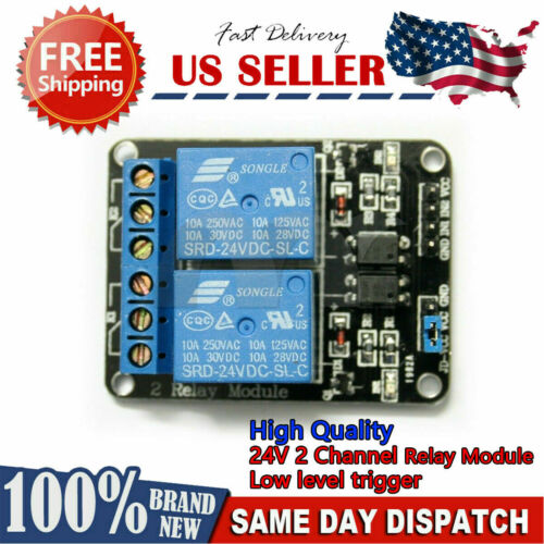 High Quality 24V 2 Channel level trigger Relay Module