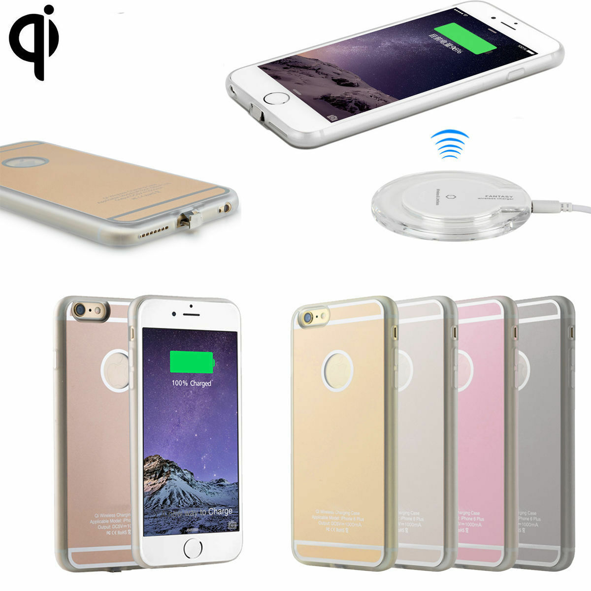 qi wireless charging receiver gel back case for iphone 7. Black Bedroom Furniture Sets. Home Design Ideas