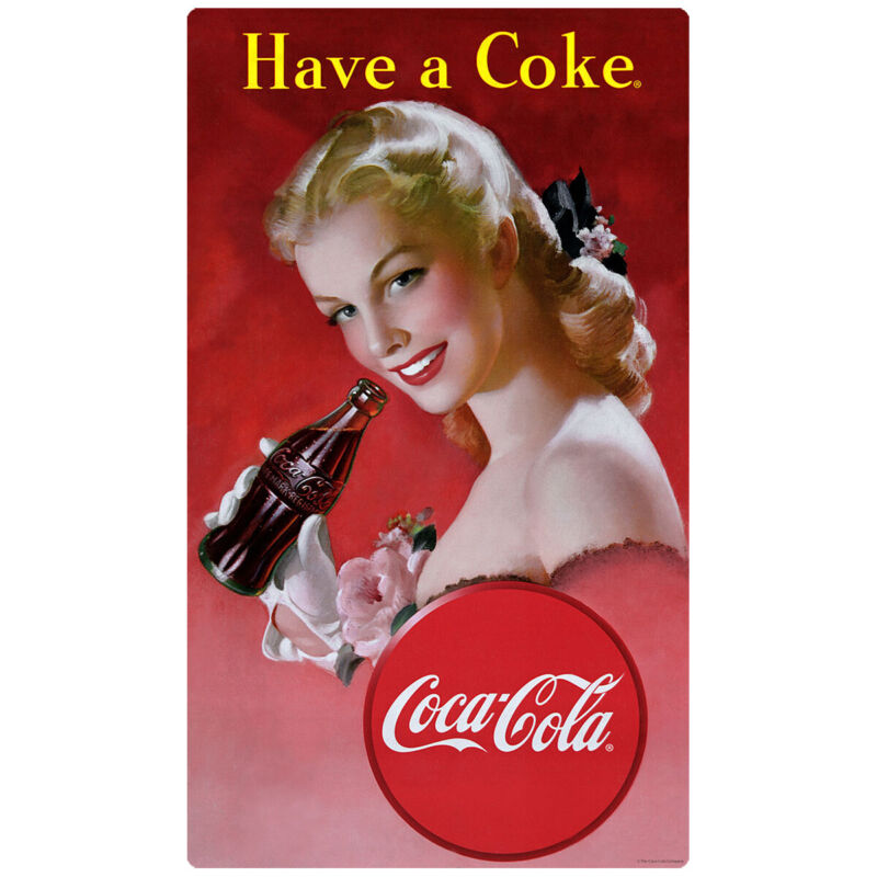 Coca-Cola Have a Coke Red Dress Lady Wall Decal 15 x 24 Vintage Style Kitchen