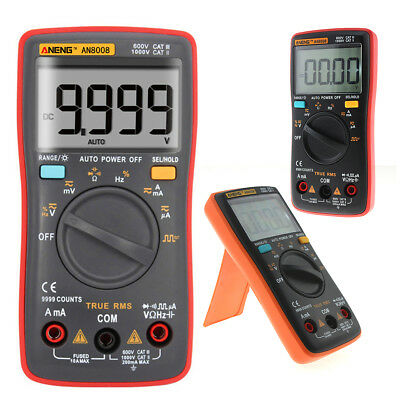 Aneng An8008 True-rms Digital Multimeter 9999 Counts Square Wave Voltage Ammeter
