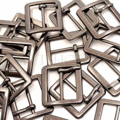 10pcs Nickel Black Center Bar Roller Buckles Craft Buckles 17mm Webbing (Center Bar Roller Buckles)