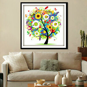 Counted Cross Stitch Kit Embroidery Set 3D Magic Tree Design Home Bedroom Decor