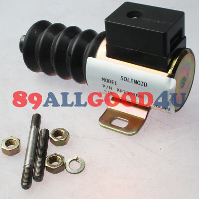 12v Pushpull Dc Stop Solenoid Rp-2307bh 40700092 For Murphy