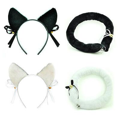 Katze Cat Set Haarreif Katzenohren Schwanz Headband Anime Cosplay Kostüm Party