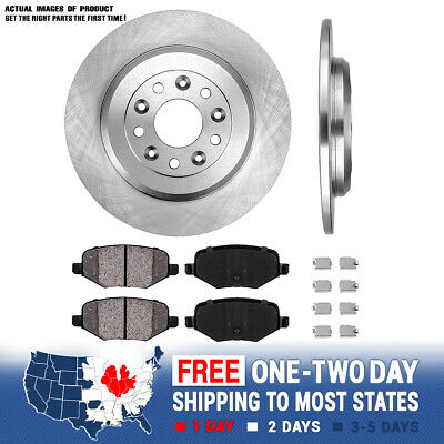 Rear 330 mm Brake Disc Rotors And Ceramic Pads For Ford Explorer Lincoln Edge 330 Mm Rotors