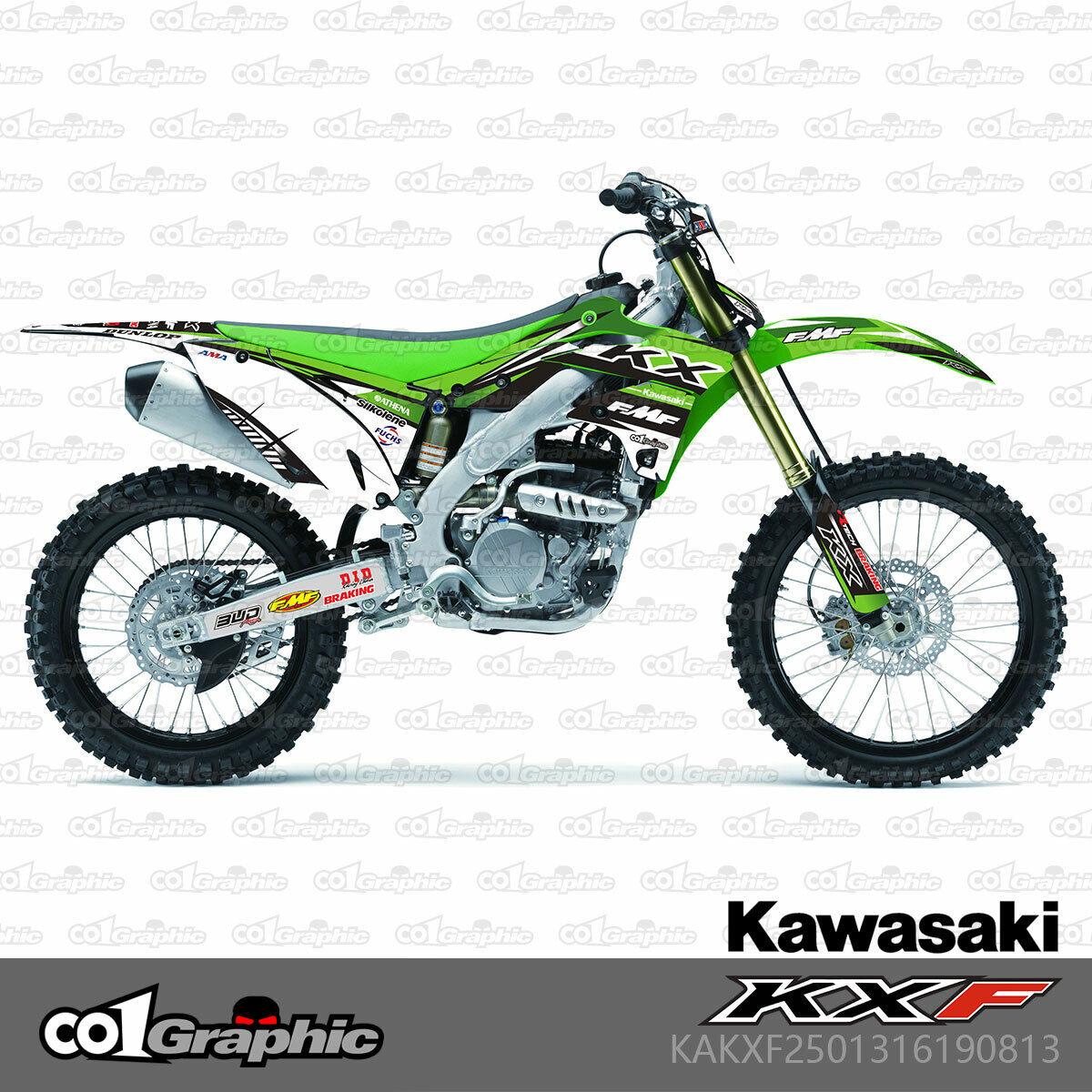 2013 2014 2015 2016 KXF 250 GRAPHICS KIT KAWASAKI GREEN ISLANDSTRIKE DECAL KIT