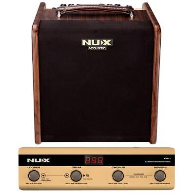 Nux Stageman Acoustic Guitar Amplifier w/ Digital FX & Jam Function w/Footswitch