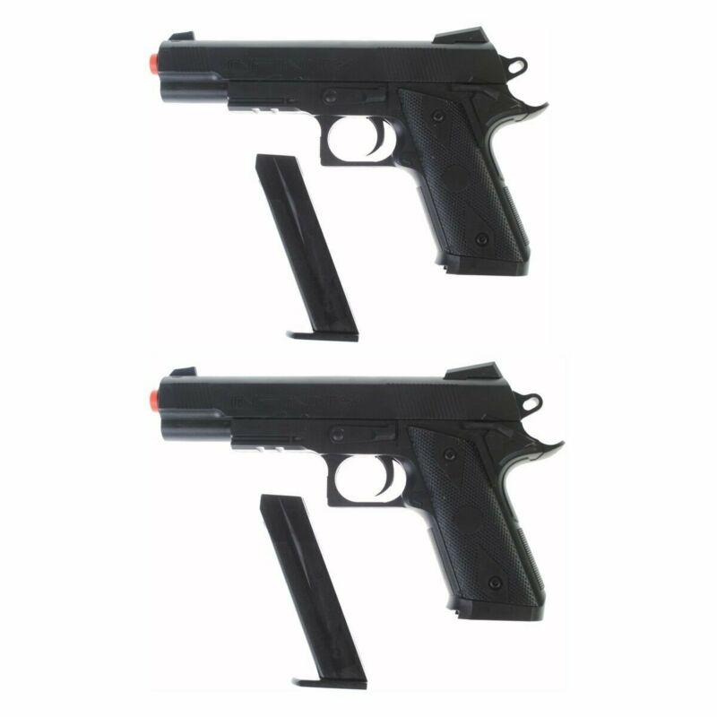 QTY 2 - Dark Ops Airsoft P338 Airsoft Hand Gun Full Size Spring Pistol w 6mm BBs