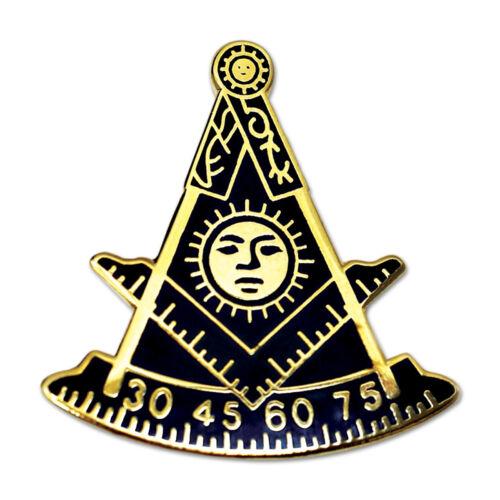Past Master Masonic Lapel Pin - [Blue & Gold][1