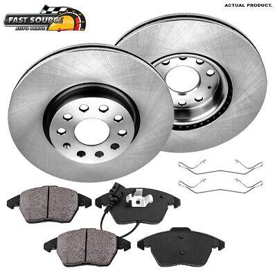For Audi A3 Tt VW Cc Eos GTI Jetta Passat Front Brake Rotors And Ceramic Pads