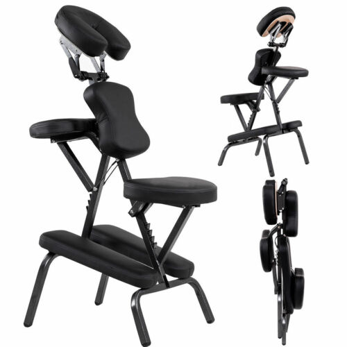 Portable PU Leather Pad Travel Massage Tattoo Spa Chair w/ Carrying Bag New