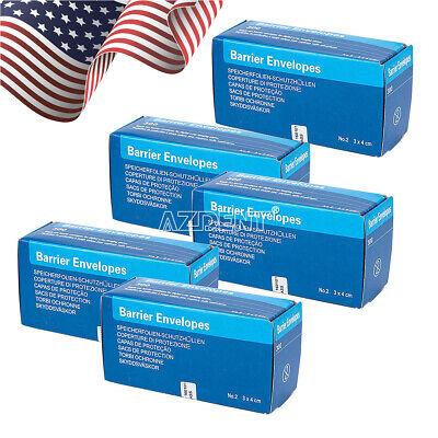5 Packs Dental X-ray Scanx Barrier Envelopes For Phosphor Plate Size 2