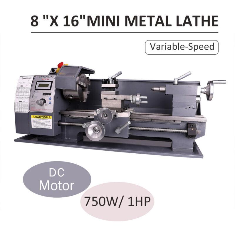 "750W 8""x16""Automatic Mini Metal Lathe Variable-Speed Metalwo"
