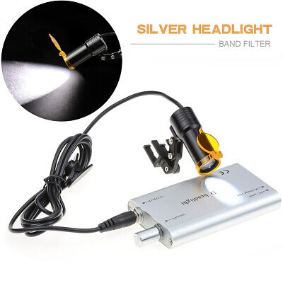 Dental Surgical 5w Led Headlight With Filter Insert Type For Dental Loupe Silver