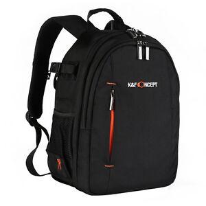 K&F Concept DSLR SLR Rucksack Fotorucksack Kamerarucksack Tasche mit Regenschutz