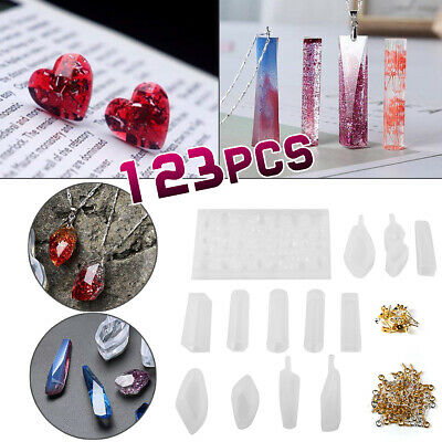 123pcs Silicone Resin Casting Molds Kit Silicone DIY Mold Jewelry Pendant Mould