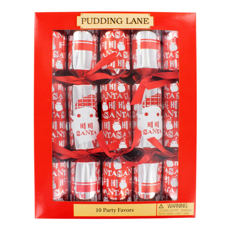 Pudding Lane Santa Christmas Crackers - 10 Pack