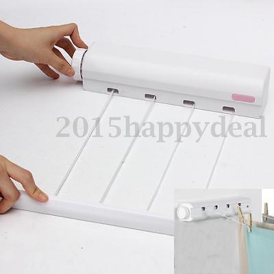 3.2m Wäschetrockner Wäscheleine Wandtrockner ausziehbar automatisch Wand weiß