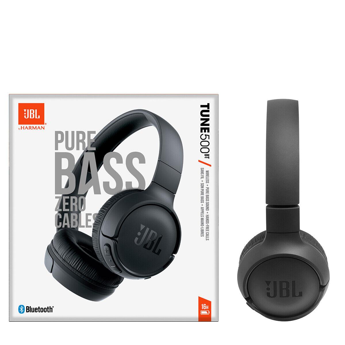 JBL Tune 500BT Wireless Bluetooth On-Ear Headphones with Bui