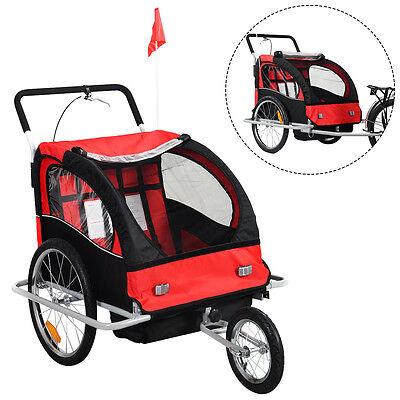 2 in 1 Kinderfahrradanhänger Fahrradanhänger Kinder-Fahrrad-Jogger Anhänger