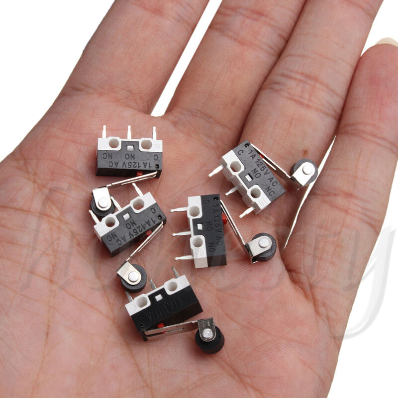 10x Ultra Mini Micro Switch Roller Lever Actuator Microswitch SPDT Sub Miniature