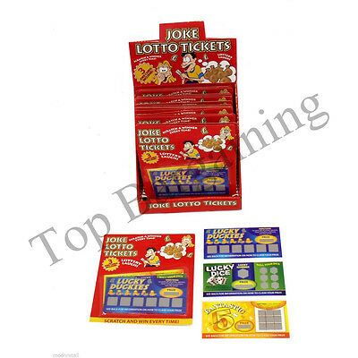 3 Fake Winning Scratch Lottery Trick Card Lotto Tickets Toy Joke Fun Party Prank