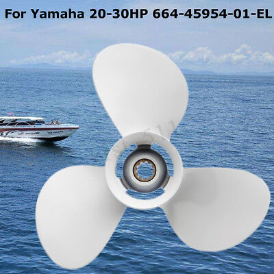 For Yamaha 20-30HP 664-45954-01-EL Outboard Propeller 9-7/8 x 12 Aluminum Marine