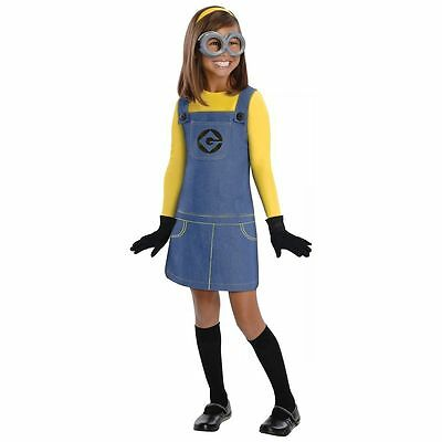 Female Minion Costume for Girls size 4-6 Despicable Me New by Rubies 886972 - Costume For Minions