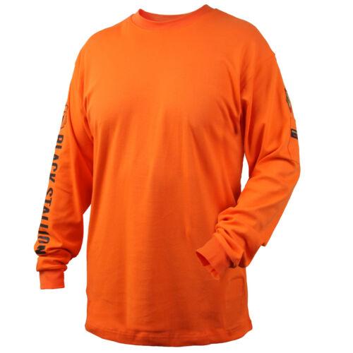 Revco Black Stallion Orange 7 oz. FR Cotton Knit Long-Sleeve T-Shirt Size 2XL