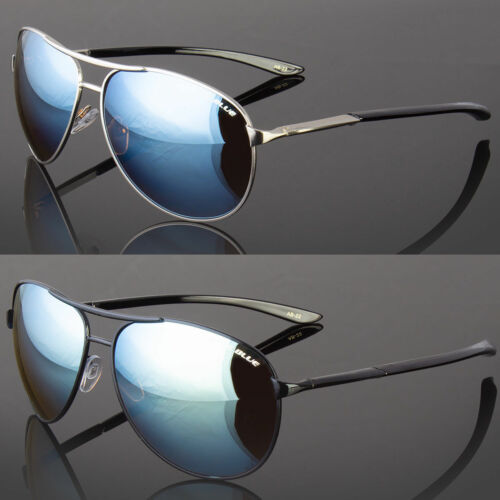 SPORT Aviator HD Day DRIVING VISION SUNGLASSES Blue Lens HIG