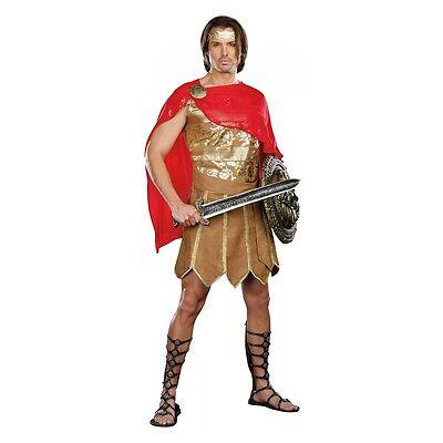 Spartan Costume Adult Greek Warrior or Gladiator Halloween Fancy Dress - Mens Greek Spartan Warrior Costume