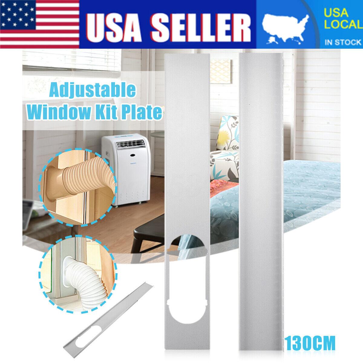 2PCS Adjustable Window Slide Kit Plate Accessories For Porta
