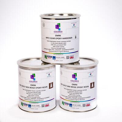 DARK BEIGE  EPOXY PAINT 2:1PART FOR GARAGE FLOOR, BASEMENT & CONCRETE. 3 GALKIT  Basement Concrete Floor Paint